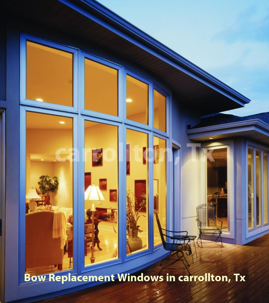 Bow Replacement Windows - Carrollton